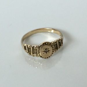 Vintage A&Co 14k YG Victorian Style Ring